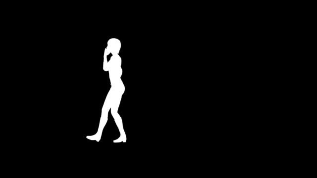 talking woman (loopable) - silhouette stock videos and b-roll footage