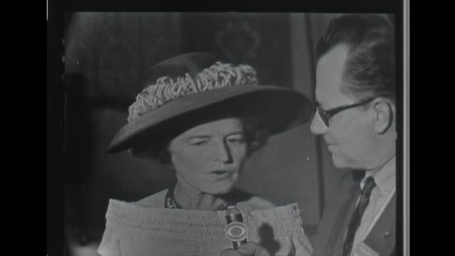 stockvideo's en b-roll-footage met talks about her husbands differences with her son jack disputes rumor that her husband is trying to 'buy' the election - john f. kennedy