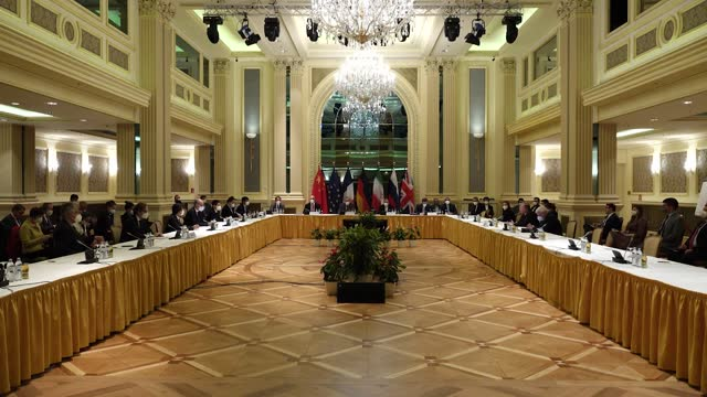 talks in vienna between iran and the six powers regarding the nuclear deal will continue next week for the sixth session to reach a final agreement.... - nuclear weapon stock videos & royalty-free footage