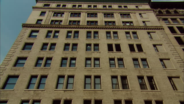 LA MS TU Tall apartment building with many windows / Manhattan, New York, USA