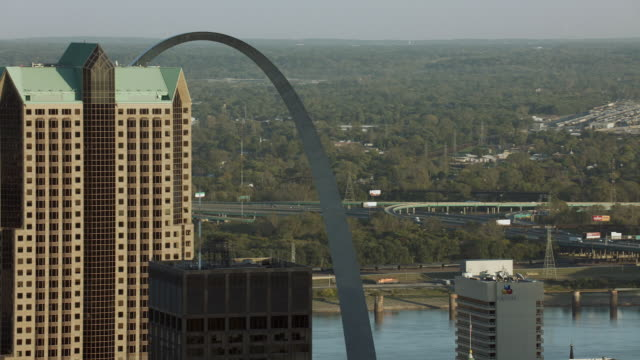 Tall Buildings And Gateway Arch In St Louis