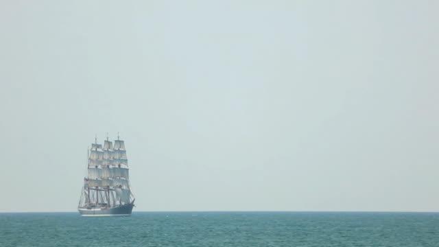 tall ship  in full sail