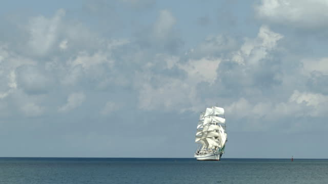 tall ship on all sails - sailing ship stock videos & royalty-free footage