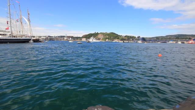 帆船の南ノルウェーます。 - 大三角帆点の映像素材/bロール