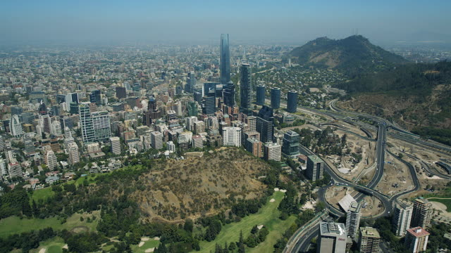 tall skyscraper in santiago chile - chile stock videos & royalty-free footage