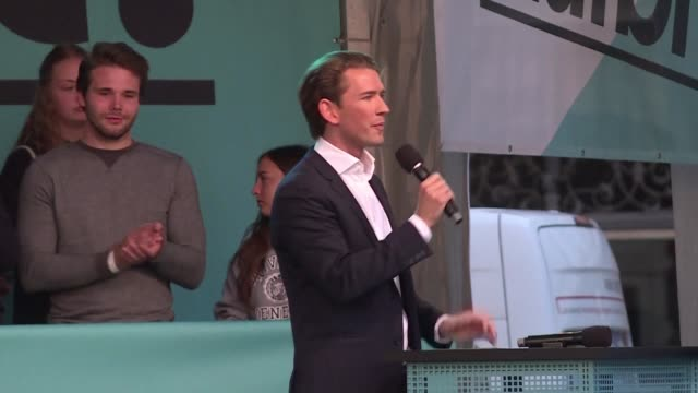 Tall tanned and only 31 Austria's rising political star Sebastian Kurz oozed confidence as he strode to blaring pop music into Graz's main square...