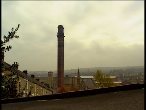tall victorian chimney stack in manchester black cat crosses in foreground - northwest england stock videos and b-roll footage