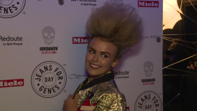 tallia storm at jeans for genes day 2015 launch party at chinawhite on september 02 2015 in london england - 2日目点の映像素材/bロール