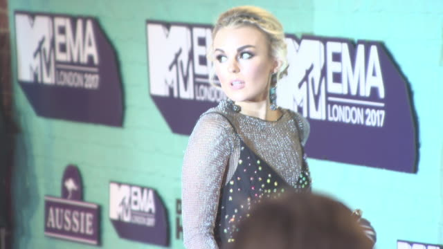 tallia storm at mtv ema awards at the sse arena wembley on november 12 2017 in london england - wembley arena stock videos & royalty-free footage