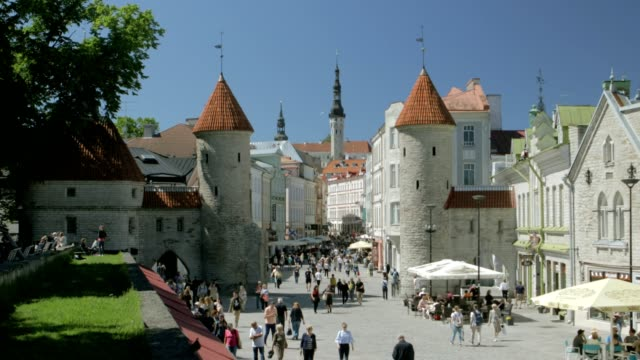 tallinn old town - old town stock videos & royalty-free footage