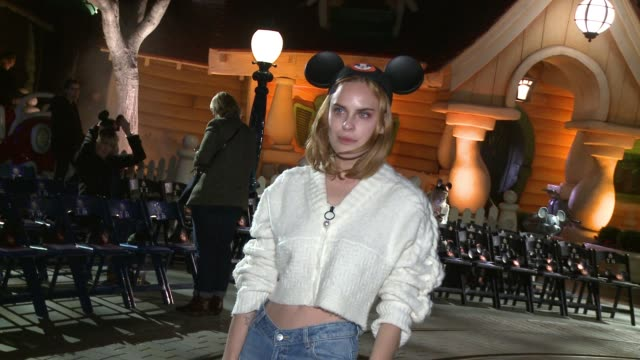 """tallulah belle willis at the opening ceremony presents spring 2018 show at disneyland and disney collaboration inspired by """"true original"""" micky... - anaheim california stock videos & royalty-free footage"""