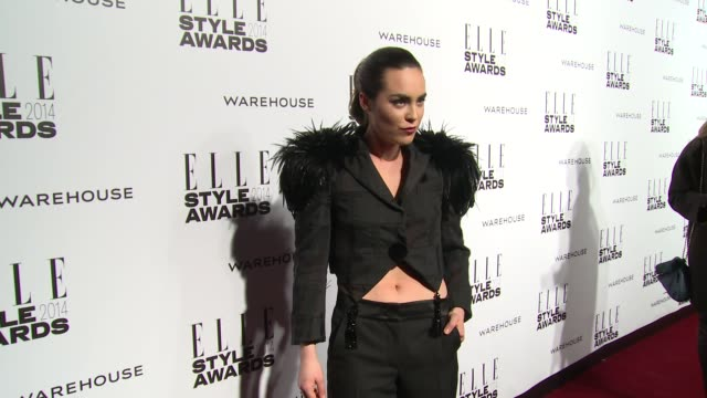tallulah herlech at elle style awards arrivals at one embankment on february 18 2014 in london england - embankment stock videos and b-roll footage