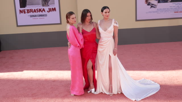 """tallulah willis, scout willis and rumer willis at the """"once upon a time in hollywood"""" premiere at tcl chinese theatre on july 22, 2019 in hollywood,... - tallulah belle willis stock videos & royalty-free footage"""