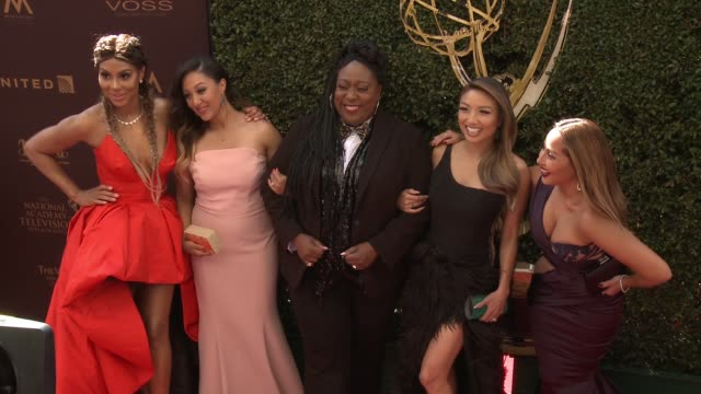tamar braxton tamera mowryhousley loni love jeannie mai and adrienne bailon at 43rd annual daytime emmy awards at westin bonaventure hotel on may 01... - tamera mowry stock videos and b-roll footage