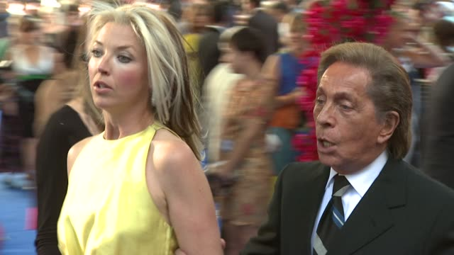 tamara beckwith and valentino at the mamma mia premiere at london - mamma mia stock videos and b-roll footage