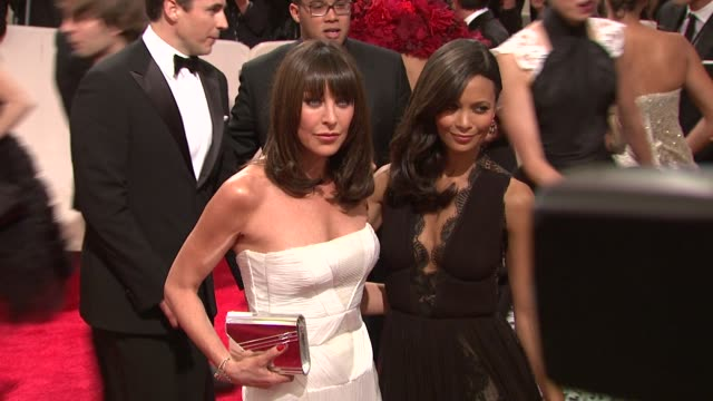 tamara mellon and thandie newton at the 'alexander mcqueen savage beauty' costume institute gala at the metropolitan museum of art at new york ny - thandie newton stock videos & royalty-free footage