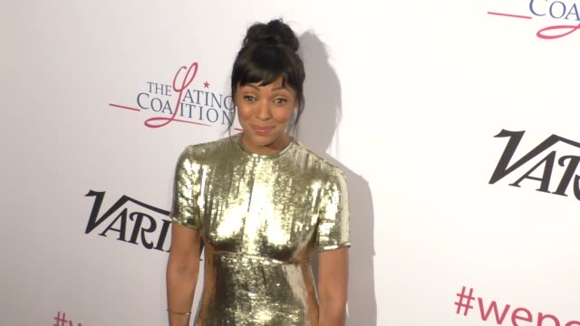vídeos de stock, filmes e b-roll de tamara taylor at the altamed health services' power up we are the future gala at the beverly wilshire four seasons hotel in beverly hills celebrity... - four seasons hotel