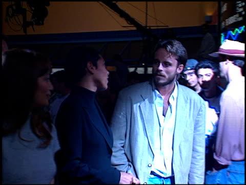 tamara taylor at the 'party of five' party at hard rock cafe on november 14, 1996. - ハードロックカフェ点の映像素材/bロール