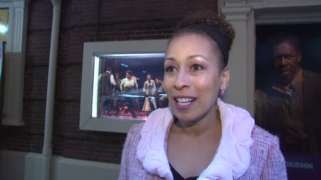 tamara tunie on never having seen the play enacted and the greatness of august wilson's work at the opening night of august wilson's 'joe turner's... - enacting stock videos & royalty-free footage