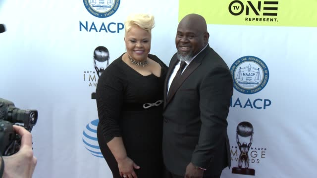 Tamela Mann and David Mann at 48th NAACP Image Awards at Pasadena Civic Auditorium on February 11 2017 in Pasadena California