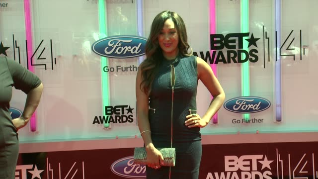 tamera mowry at the 2014 bet awards on june 29 2014 in los angeles california - bet awards stock videos and b-roll footage