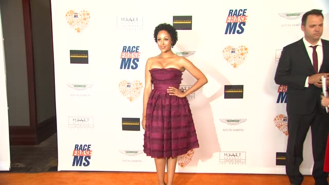 tamera mowry at the 21st annual race to erase ms in los angeles ca - tamera mowry stock videos and b-roll footage