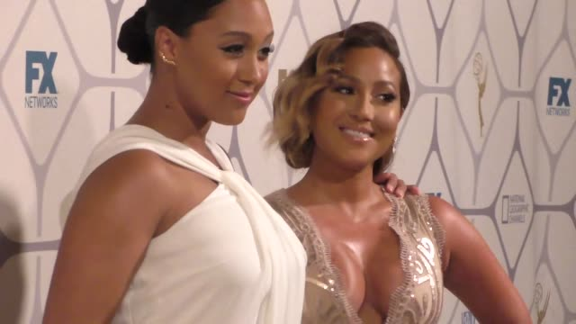 tamera mowryhousley adrienne bailon at the 67th primetime emmy awards fox after party at vibiana on september 20 2015 in los angeles california - tamera mowry stock videos and b-roll footage