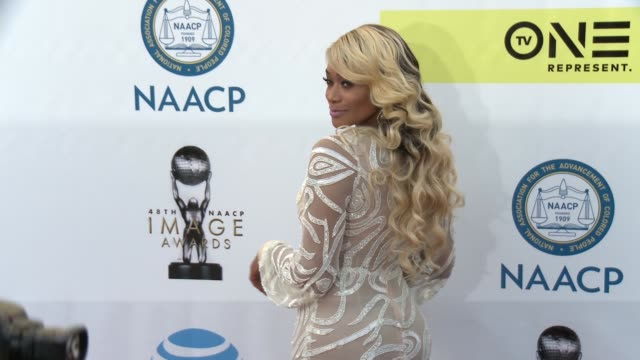 Tami Roman at 48th NAACP Image Awards at Pasadena Civic Auditorium on February 11 2017 in Pasadena California