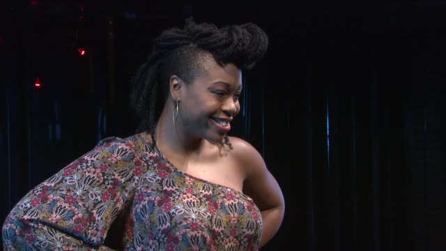 tamika sonja lawrence at the 'rent' off-broadway cast photocall at new york ny. - フォトコール点の映像素材/bロール