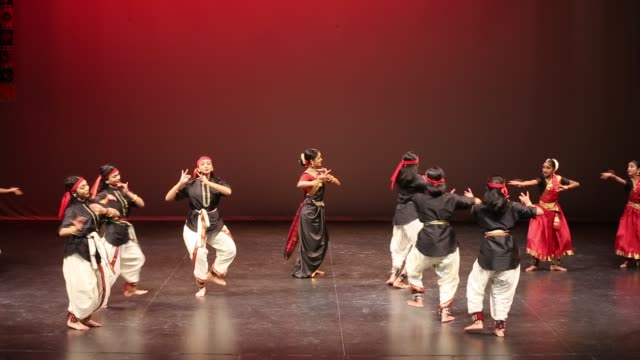 tamil bharatnatyam dancers perform a traditional dance during a cultural program celebrating the thai pongal festival in markham, ontario, canada, on... - harvest festival stock videos & royalty-free footage