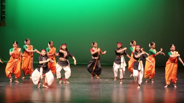 tamil dancers perform a traditional dance during a cultural program celebrating the thai pongal festival in markham, ontario, canada, on january 12,... - harvest festival stock videos & royalty-free footage