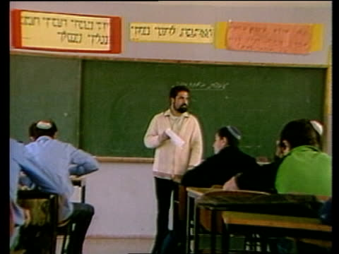 Tamil Party calling for Knesset to be dissolved MS Members of Religious Court MS Couple in Court sit down MS Teacher in school PULL OUT to pupils in...