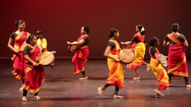 tamil youth perform a rhythmic tune on the paadi during a cultural program celebrating the thai pongal festival in markham, ontario, canada, on... - harvest festival stock videos & royalty-free footage