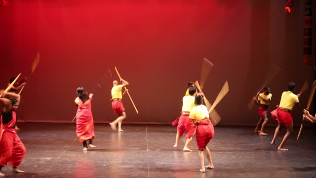 tamils demonstrate silambam during a cultural program celebrating the thai pongal festival in markham, ontario, canada, on january 12, 2020. the... - harvest festival stock videos & royalty-free footage