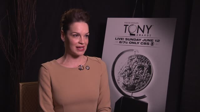 tammy blanchard says being nominated makes her feel like she's making a comeback after three years away raising her daughter says her favorite tony... - バーナデット ピータース点の映像素材/bロール