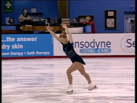 Tammy Sear begins short programme and performs lutz combination British Figure Skating Championships Belfast Nov 99