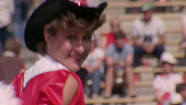 1985 sm ms tampa bay bandits cheerleaders doing routine/ tampa,  florida  - organised group stock videos & royalty-free footage