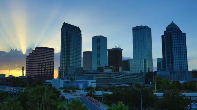 tampa, fl - bridge built structure stock videos & royalty-free footage