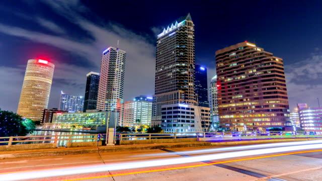 tampa, florida - traffic time lapse stock videos & royalty-free footage