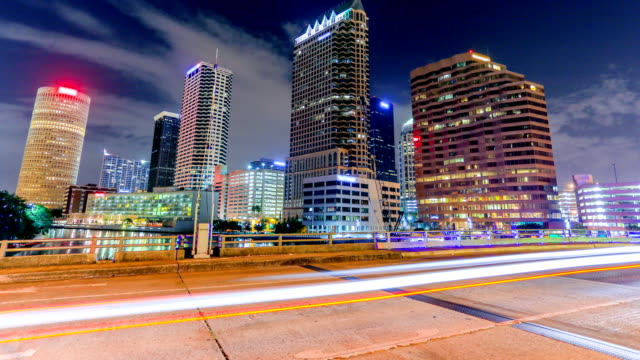 tampa, florida - traffic time lapse stock videos & royalty-free footage