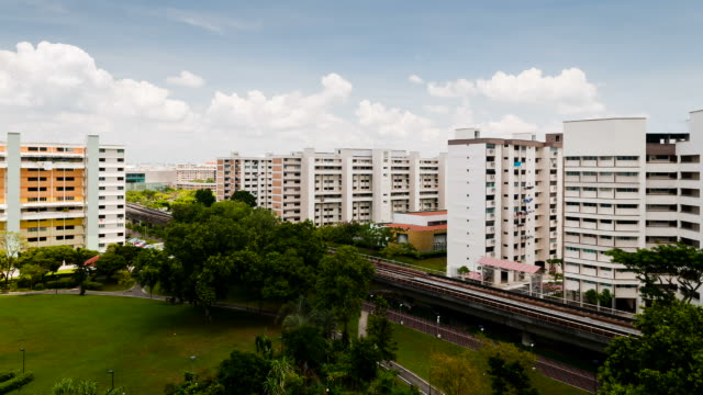 tampines new town - housing development stock videos & royalty-free footage