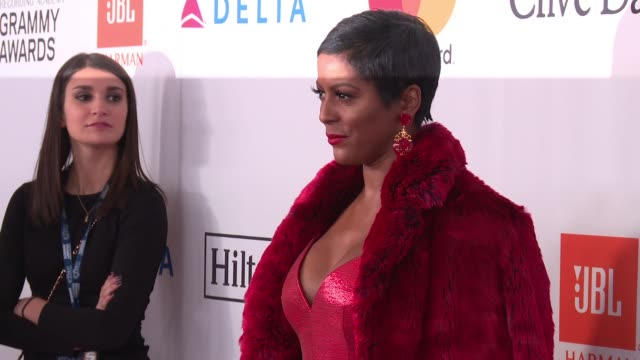 tamron hall at clive davis pre-grammy gala at sheraton times square on january 27, 2018 in new york city. - tamron hall stock videos & royalty-free footage