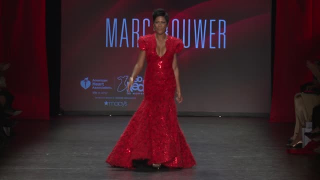 tamron hall at go red for women - nyfw - womens f/w 2016 at the space, skylight at clarkson sq on february 11, 2016 in new york city. - tamron hall stock videos & royalty-free footage
