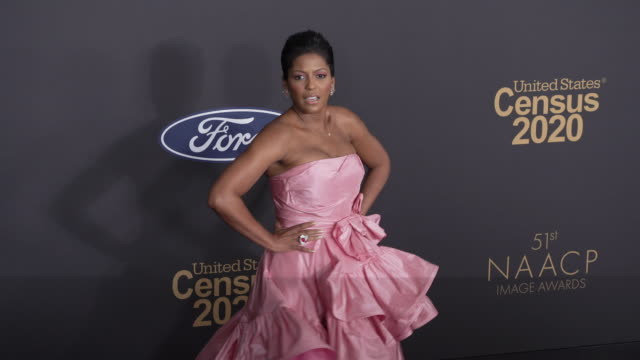 tamron hall at the 51st naacp images awards - tamron hall stock videos & royalty-free footage