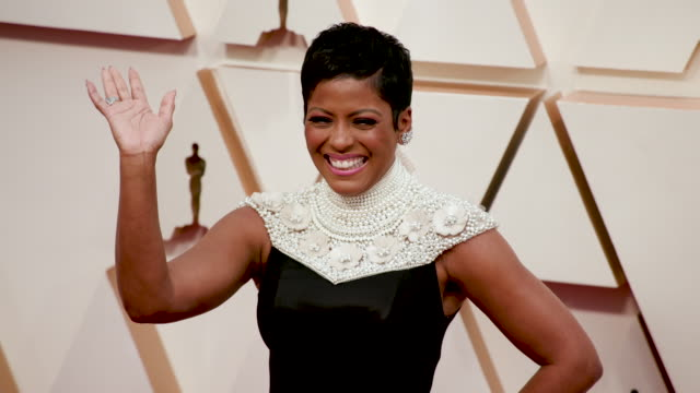 tamron hall at the 92nd annual academy awards - arrivals on february 09, 2020 in hollywood, california. - tamron hall stock videos & royalty-free footage