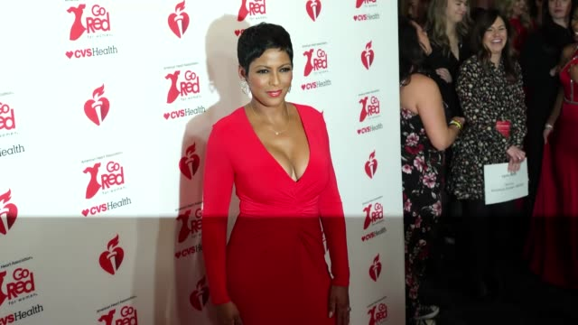 tamron hall at the american heart association's go red for women® red dress collection® 2020 at hammerstein ballroom on february 05, 2020 in new york... - tamron hall stock videos & royalty-free footage