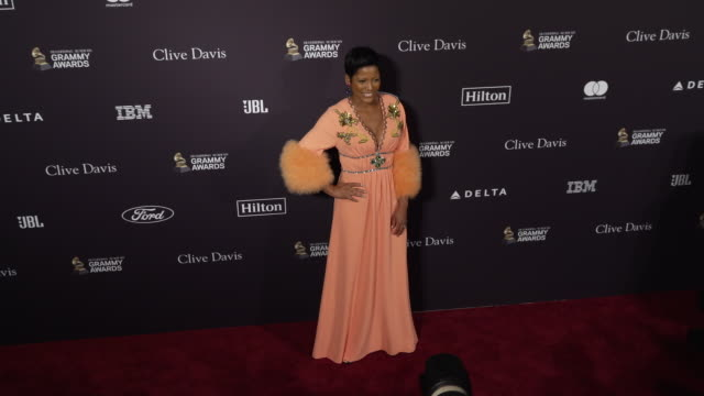 tamron hall at the recording academy and clive davis' 2020 pre-grammy gala at the beverly hilton hotel on january 25, 2020 in beverly hills,... - tamron hall stock videos & royalty-free footage