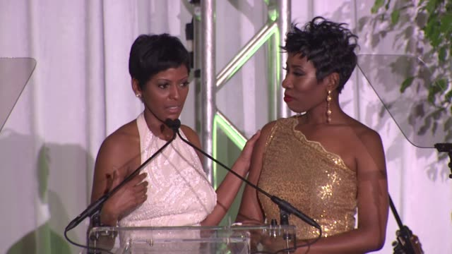 tamron hall on how the harvey family inspires her, says success is nothing if it is not shared at the 2015 steve & marjorie harvey foundation gala at... - tamron hall stock videos & royalty-free footage
