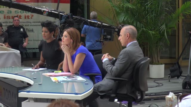 tamron hall, savannah guthrie, and matt lauer at the 'today' show studio in new york, ny, on 8/28/13. - tamron hall stock videos & royalty-free footage