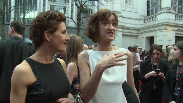 INTERVIEW Tamsin Greig and Haydn Gwynne on the awards and working theatre at The Laurence Olivier Awards with MasterCard on 12th April 2015 in London...